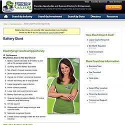 Battery Giant Franchise Opportunity