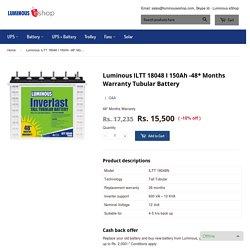 Shop online - The Best Battery in India -Luminous 18048, 5 years warranty – Luminous eShop