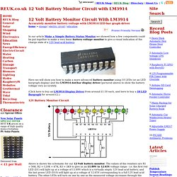 12 Volt Battery Monitor Circuit with LM3914 - Storage