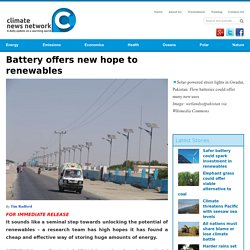 Battery offers new hope to renewables