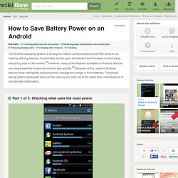 How to Save Battery Power on an Android