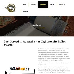 Buy Battery Powered Roller Screeds In Australia