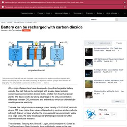 Battery can be recharged with carbon dioxide