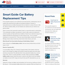 Smart Exide Car Battery Replacement Tips · Carfit