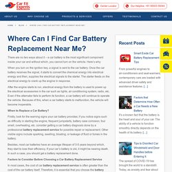 Where Can I Find Car Battery Replacement Near Me? · Carfit