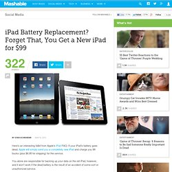 iPad Battery Replacement? Forget That, You Get a New iPad for $9