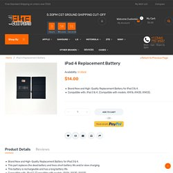 Buy iPad Battery Parts Online