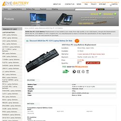Replacement ASUS Eee PC 1215 Battery Online Store