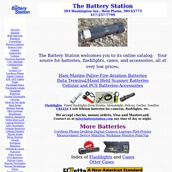 The Battery Station Lithium Lead NiMH NiCad Ion Batteries