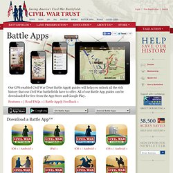 Introducing the Civil War Trust's Battle Apps