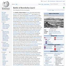 Battle of Beersheba (1917) - Wikipedia