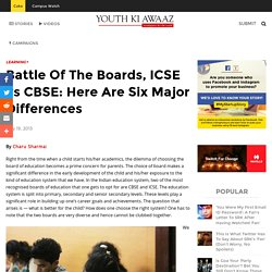 CBSE vs ICSE Board, Difference Between CBSE & ICSE Syllabus