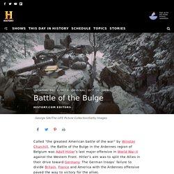 Battle of the Bulge - Definition, Dates & Who Won