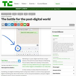 The battle for the post-digital world