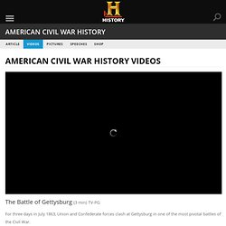 The Battle of Gettysburg — History.com Video