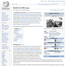 Battle for Hill 3234 - Wikipedia