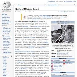Battle of Hürtgen Forest
