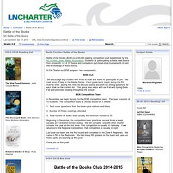 Grade 6-8 - Battle of the Books - LibGuides at Lake Norman Charter School