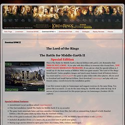 The Battle for Middle Earth - Pros On Air: Download BFME II