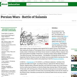 Battle of Salamis During the Persian Wars