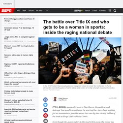 The battle over Title IX and who gets to be a woman in sports