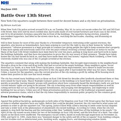 Battle Over 13th Street: Squatter Evictions on the Lower East Side, by Miriam Axel-Lute