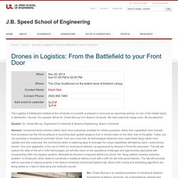 Drones in Logistics: From the Battlefield to your Front Door — J.B. Speed School of Engineering