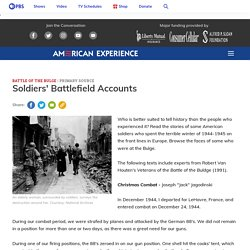 Soldiers' Battlefield Accounts
