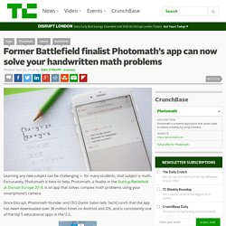 Former Battlefield finalist Photomath's app can now solve your handwritten math problems