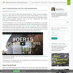 Oer15: Window Boxes, Battles, and Bandwagons