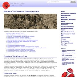 Battles of the Western Front 1914-1918