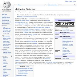 Battlestar Galactica - Wikipedia, the free encyclopedia - Firefo