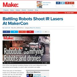 Battling Robots Shoot IR Lasers At MakerCon