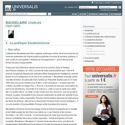 CHARLES BAUDELAIRE, La poétique baudelairienne