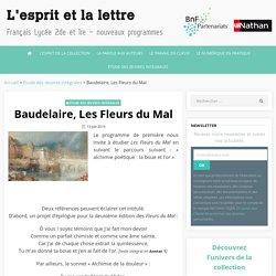 Baudelaire, Les Fleurs du Mal, l'esprit et la lettre