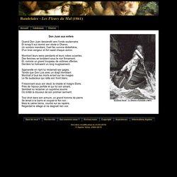 Baudelaire - Les Fleurs du Mal- Don Juan aux Enfers (1861)