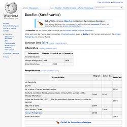 Baudiot (Stradivarius)