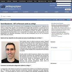David Baudonnel : SVT et Parcours santé au collège
