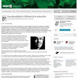 Jean Baudrillard: el filósofo de la seducción - Nodo50. Contrainformación en la Red