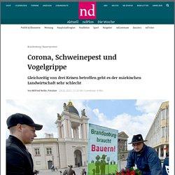 NEUES-DEUTSCHLAND_DE 28/01/21 TRAD AUTO : Corona, peste porcine et grippe aviaire - Dans le même temps, l'agriculture du marché se porte très mal par trois crises