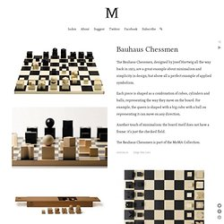 Bauhaus Chessmen