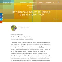 How Bauhaus Design Is Helping To Build a Better Web