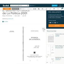 Z. Bauman-En Busca de La Politica-2001