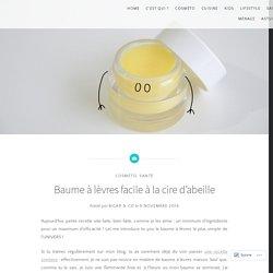 Baume à lèvres facile à la cire d'abeille – Bicar&co