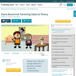 Diana Baumrind: Parenting Styles & Theory