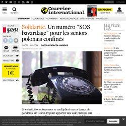 """Un numéro """"SOS bavardage"""" pour les seniors polonais confinés"""