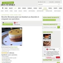 Bavarois poire sur fondant au chocolat et craquant aux speculoos