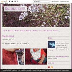 Bavoirs bandana - Mon arbre aux violettes