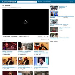 B. BAYART - Une playlist sur Dailymotion