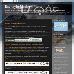 Baybayin Modern Fonts: Downloads